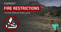 Graphic saying Current Fire Restrictions