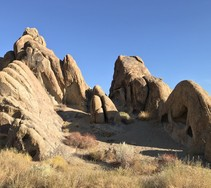 Rock formations in the sunlight.