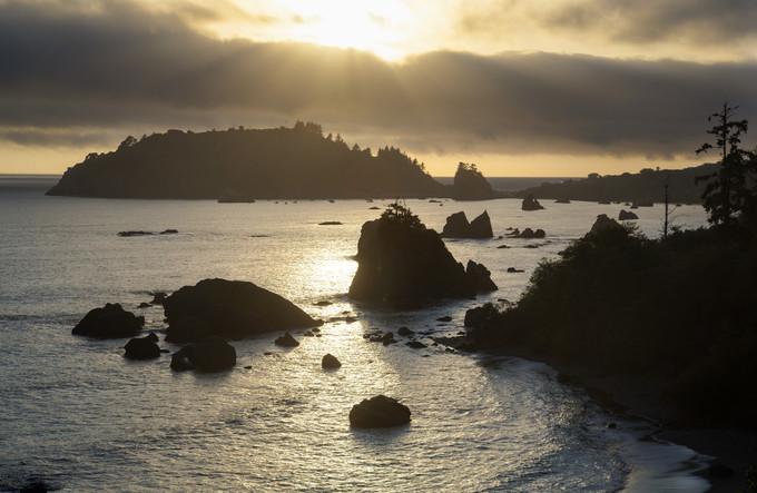Coastal rocky waters.