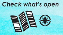 Graphic that says Check what's open