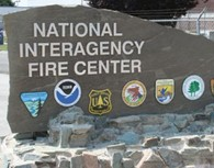 Sign for National Interagency Fire Center