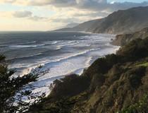 Pacific ocean coastal mountain range.