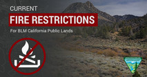Current BLM fire Restrictions