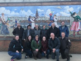 the Alpena FWCO Deroit River Substation crew on their history and culture tour of Hamtramck, MI