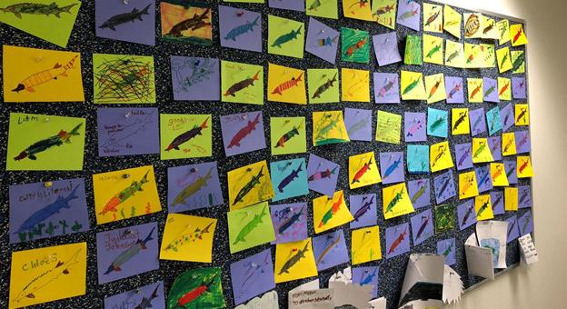students sturgeon artwork