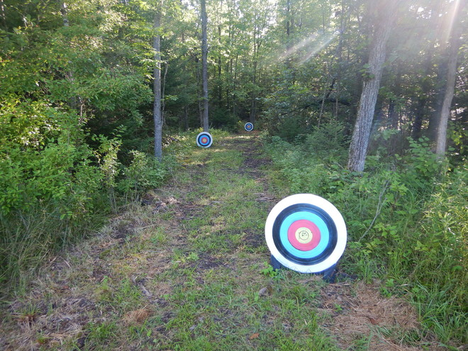 targets on an archery trail