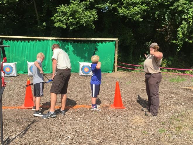 archery training at Genoa NFH