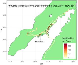 map of lake whitefish sampling locations
