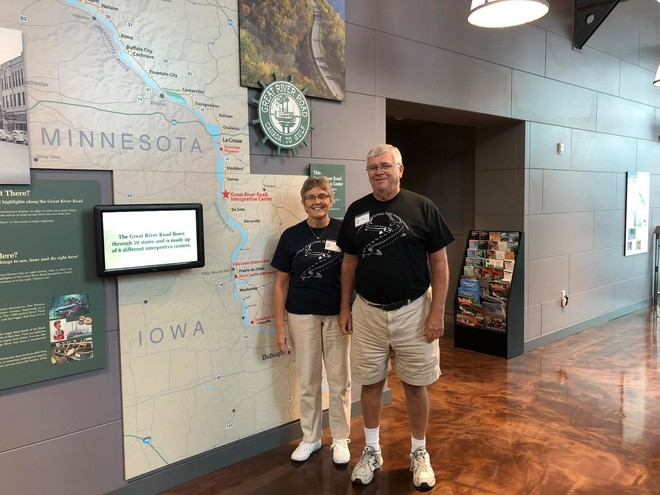 volunteers at interpretive center