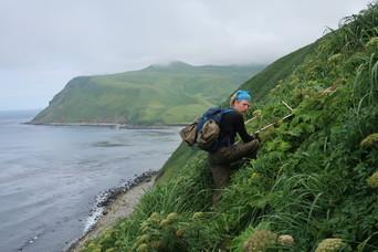 Biologist Kevin on Buldir Island