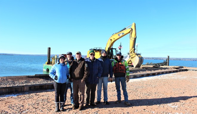 final inspection of island habitat restoration for turns