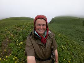 Sarah Youngren in the field at Alaska Maritime National Wildlife Refuge