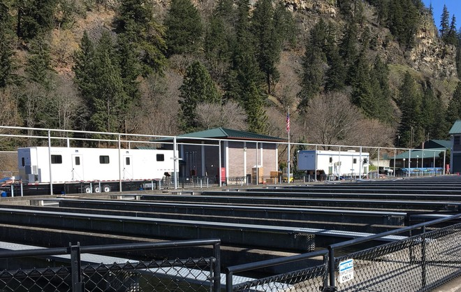 auto tagging trailers at National Fish Hatchery