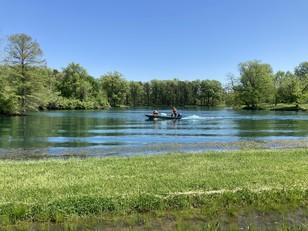 a lake at Scott AFB