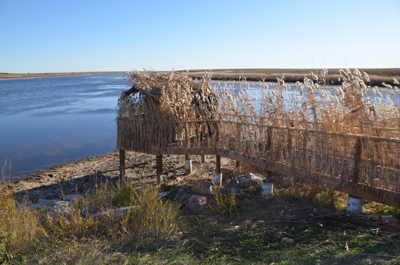A new hunting blind at Medicine Lake National Wildlife Refuge. Photo: Ducks Unlimited