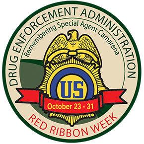 Red Ribbon Week patch