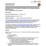 Emergency and Transitional Pet Shelter and Housing Assistance Grant Program