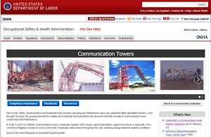 Communication Tower Web page