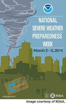 National Severe Weather Preparedness Week poster