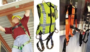Body harnesses are used in personal fall protection systems. Workers need to be fitted with the correct harness size.