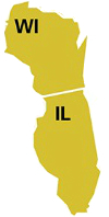 Wisconsin and Illinois