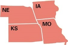 Iowa, Kansas, Missouri and Nebraska