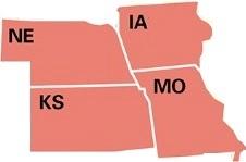 Iowa, Kansas, Missouri and Nebraska