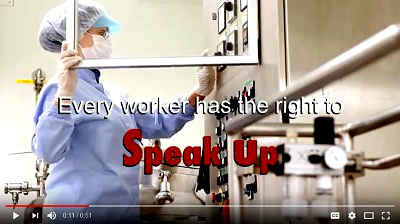 Every worker has the right to speak up