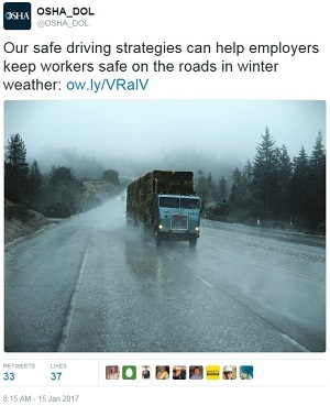 driving tweet @OSHA_DOL Our safe driving strategies can help employers keep workers safe on the roads in winter weather: ow.ly/VRalV