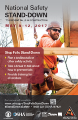 National Safety Stand-Down Announcement May 8-12