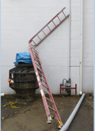 Picture of damaged ladder