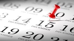 December 15 on a calendar