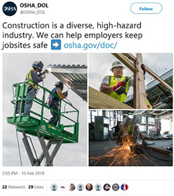 @OSHA_DOL Construction is a diverse, high-hazard industry. We can help employers keep jobsites safe ➡️ https://www.osha.gov/doc/
