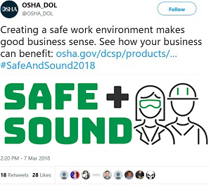 Creating a safe work environment makes good business sense. See how your business can benefit: https://www.osha.gov/dcsp/products/topics/businesscase/ …   #SafeAndSound2018