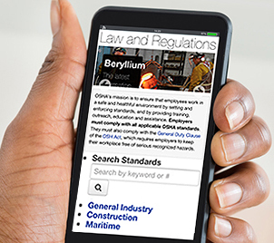 OSHA's redesigned Law and Regulations webpage provides easier navigation