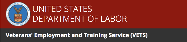 United States Department of Labor Veterans Employment and Training Service (VETS)