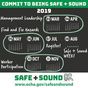 Safe + Sound 2019 calendar