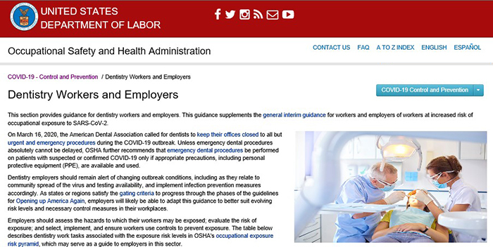 Dentistry webpage