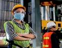 masked worker