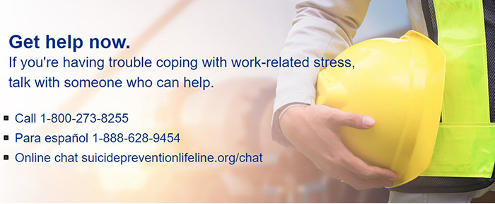 Get help now. If you're having trouble coping with work-related stress, talk with someone who can help.
