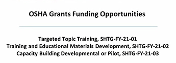 OSHA Grant Funding Opportunities