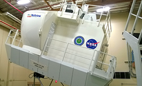 A NASA flight simulator cab.