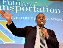 Secretary Foxx speaks at the kickoff of The Future of Transportation series.