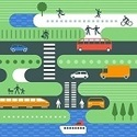 Image showing different modes of transportation in a city