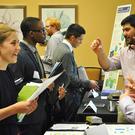 Image of students at an internship fair