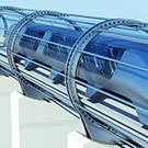 Concept image of hyperloop travel