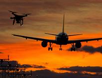 Image of plane and UAS