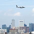 Airplane over Boston
