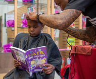 read at the barber