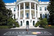 Better Make Room Chalk Sign with First Lady